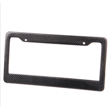 Dewtreetali 2pcs Front Rear Carbon Fiber Look USA/Canada License Plate Frame Tag Cover Holder for Auto Truck Vehicles(China)