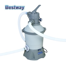58397 Bestway 530 Gal Sand Filter For 1100-16000L Pool Corrosion-Resistant Tank 6-Position ValveTop Flange Clamp Design Easy-Acc