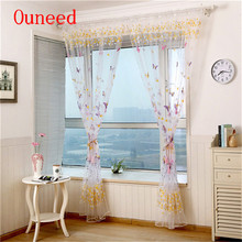 1 PC decorative curtains butterflies Screens Door Balcony modern voile Curtain Panel Sheer Cover for Living Room Home Decor 2017