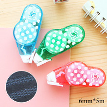 Cute Kawaii Dots Correction Tape Colored Plastic Corrector Tape For Kids Gift Korean Stationery Free Shipping 1530(China)