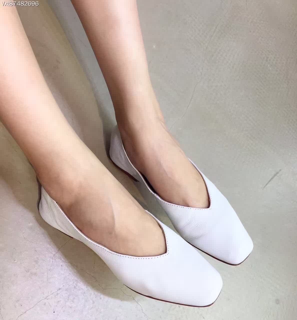 All Cowhide Genuine Leather Breathable Low Top Flat Shoes Ballerina Flats 2016 New Arrival White Ballet Shoes<br><br>Aliexpress