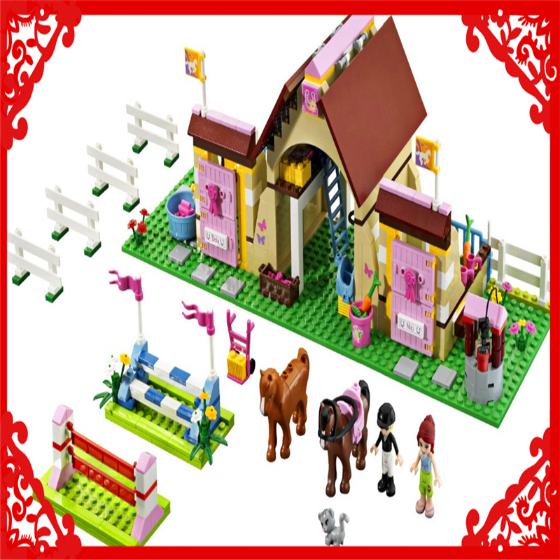 BELA 10163 Friends Series Heartlake Stables 400Pcs Building Block DIY Educational  Toys For Children Compatible Legoe<br>