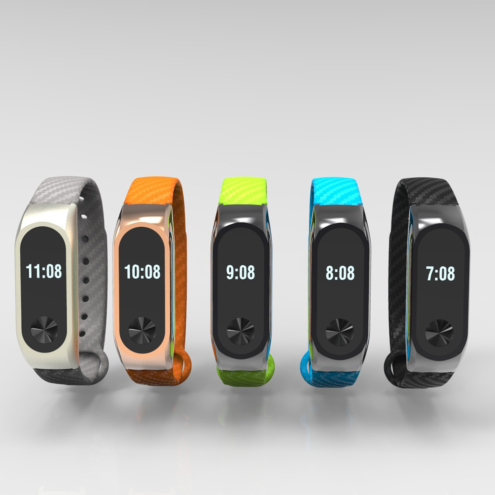 Silicon Strap Bracelet Replacement Xiaomi Mi Band 2 Bracelet Strap Luxury Silicone Wristband Xiaomi Mi band 2