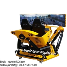 Guangzhou Factory 3 Screens Dynamism Innervation 3D Simulator Driving Car Racing Game Machine(China)
