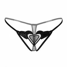Buy Fashion Pearl Sexy G-string Triangle Underwear Women Crotchless Briefs Thongs Sexy Panties Knickers Lingerie Underpants