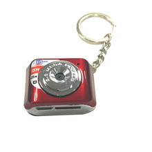 promotional World's Smallest MINI DV Metal Keychain Exquisite 480p HD Digital Mini Camara Support Microsd TF Card