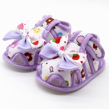Buy Summer Newborn Baby Girls&Boys Cute Sandals 4 Color Bow knot Princess Style Breathable Shoes Cute Printing Bowknot Forward 0-18M for $1.12 in AliExpress store