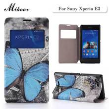 New HIGH Quality Fashion Painted PU Leather sFor Sony Xperia E3 Case For Sony Xperia E3 D2203 D2206 Cell Phone Cover Case(China)