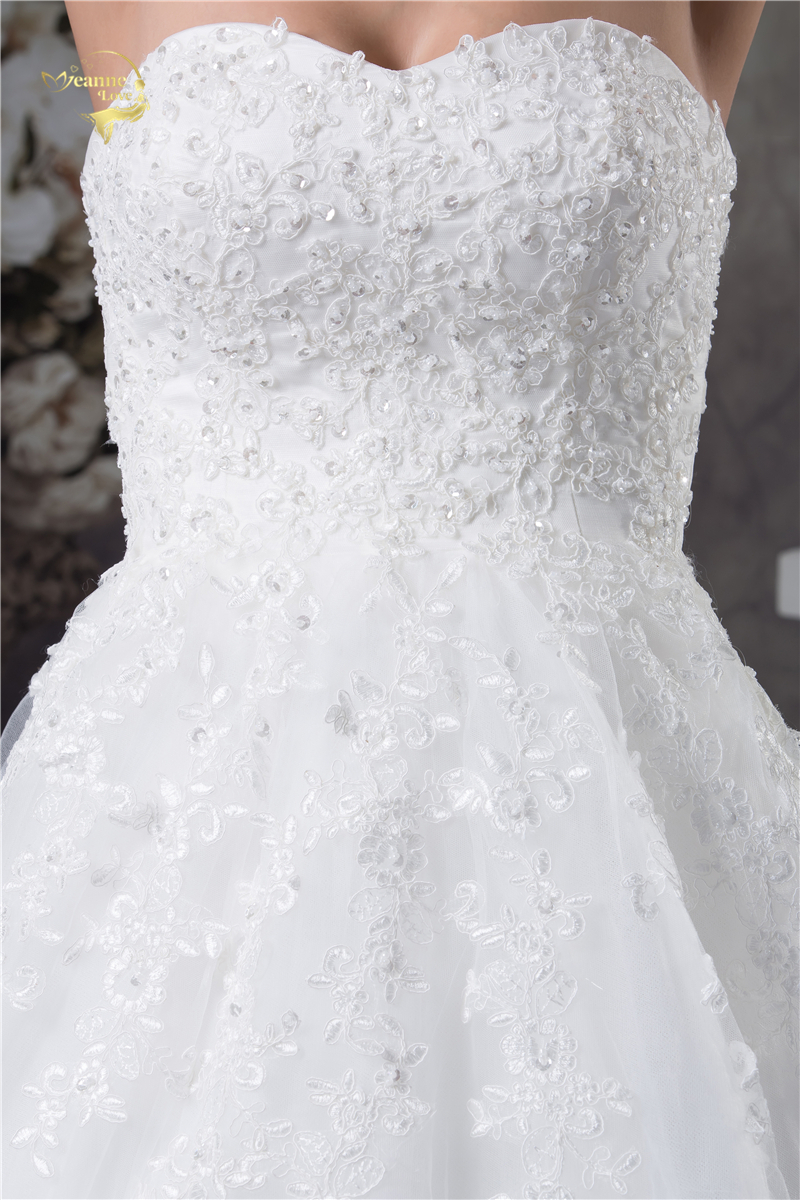 Jeanne Love Soft Tulle Sweetheart Wedding Dresses Perfect 2018 New Applique Lace Bridal Gown A Line Robe De Mariage JLOV75951 8