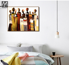 African women painting wall art picture abstract art modern canvas painting hand painted oil painting for living room large