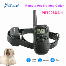 300M Remote Dog Training TPU Collar Rechargeable And Waterproof Vibration Shock Electronic Electric Anti Bark Control(China)