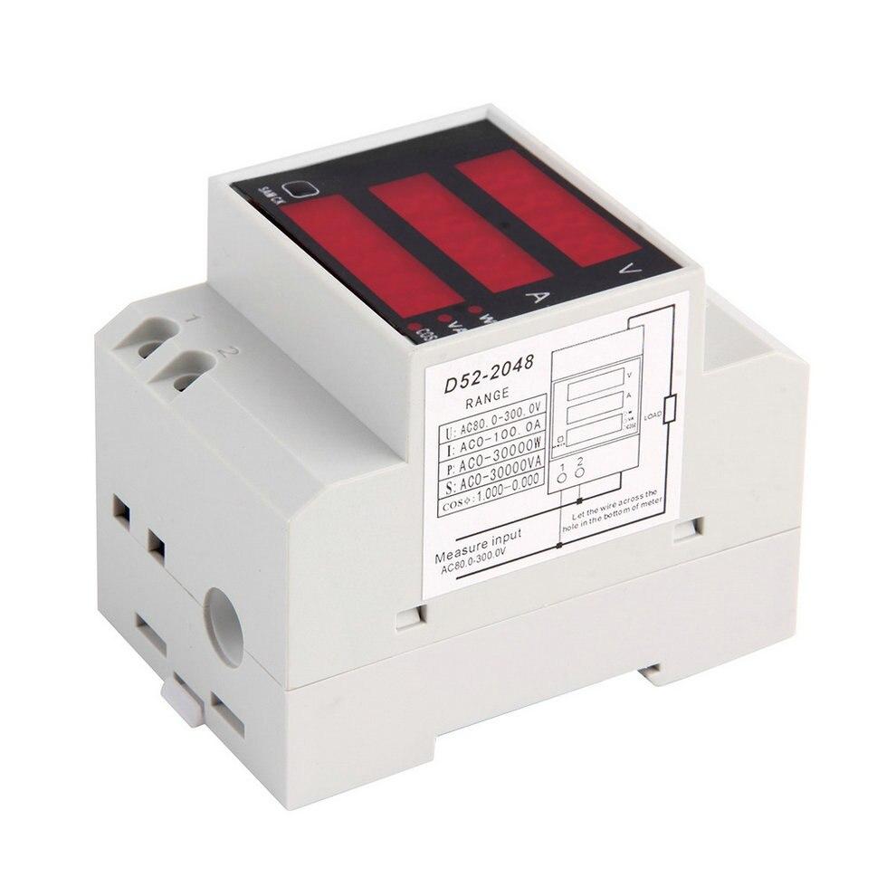 1pc D52-2048 AC 80-300V LCD Digitial Multi-Functional Meter Voltmeter Ammeter Stock Offer Multi-Functional Meter<br><br>Aliexpress