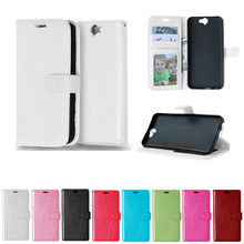 For HTC Aero HTC A9 One Case Solid color Leather Cases Fashion Card Slot Stand Wallet Photo Frame Flip Phone Cover