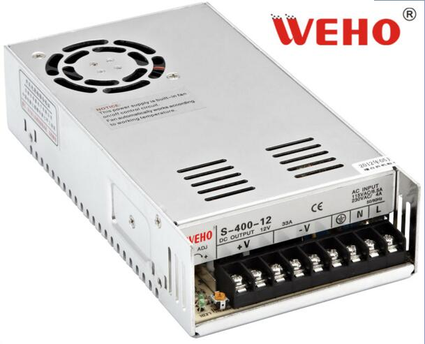 China good quality 400W camera 12V33A switch power supply with power type LED lamp S-400-12<br>
