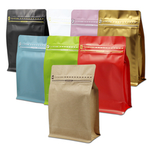 200Pcs 13.5x26.5x7cm Aluminum Foil Coffee Storage Doypack Pouch Open Top Heat Seal Stand Up Tea Dried Fruit Powder Pack