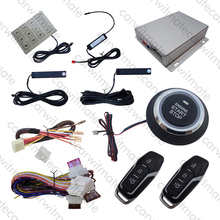 New Rolling Code PKE Car Alarm System Passive Keyless Entry Push Button Start Stop Remote Engine Start Remote Trunk Release