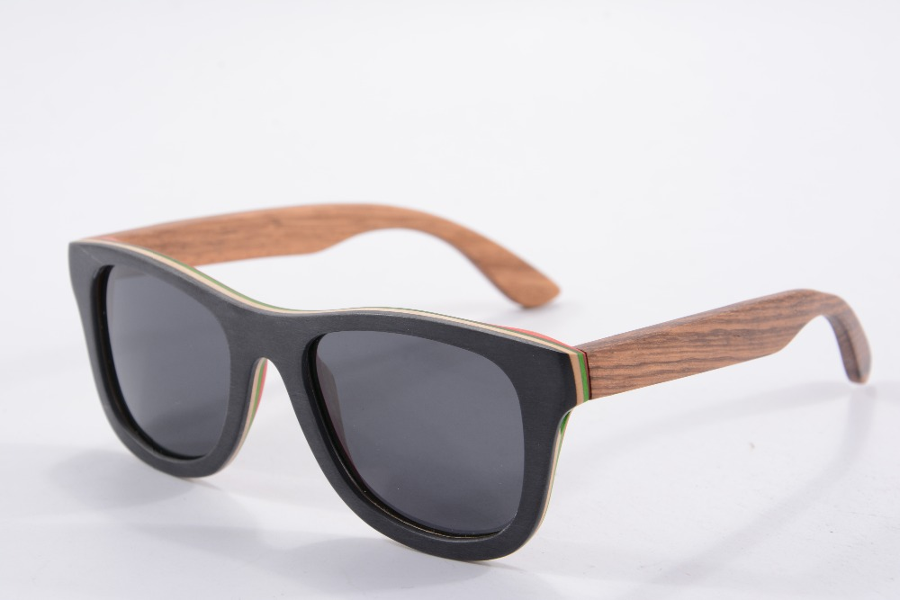 New fashion wood sunglasses polarized outside black inside red with zebra wood temple Eyewear Eyeglasses 68004<br><br>Aliexpress