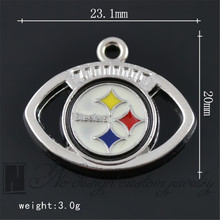 Pittsburgh American football  Team Steelers Alloy Charms Dangle Metal Alloy Charm fits Pendants for jewelry making NE1036