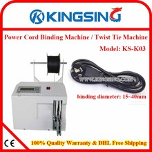 High-efficiency power cord and cable winding machine/wire coil packing bundling machine KS-K03+ Free Shipping by DHL air express(China)