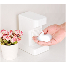 500ML Stand Foam Dispenser Electric Table Touch Soap Dispenser Automatic Foaming Maker White Smart Countertop Dispenser