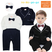 Baby Boy Newborn Rompers+Coat Clothes Kid's Infant Baby Tuxedo Suit Clothing Sets Gentleman Roupa Jumpsuits de bebe Long Clothes
