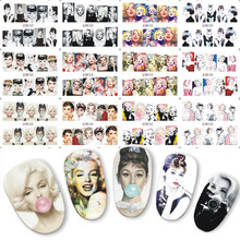 Buy 12pcs Beauty Woman Full Cover Water Transfer Nail Art Sticker Nails Decal Manicure DIY Slider 3 CONCERT EYES BN025-036 for $1.18 in AliExpress store