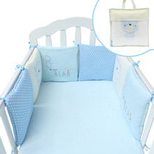 Buy 6pcs/set Baby Children Fence Playpens Cute Baby Crib Cot Bumper Cushion Infants Blend Bumper Bed Protector Nursery Care for $21.77 in AliExpress store