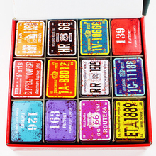 Metal Mac Make Up Organizer 36Piece/Lot Small Tin Box Sealed Jar Packing Candy Box Tea Box Pill Container Case Treasure Chest