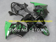 Green flames black Fairing  for 2005 2008 KAWASAKI ZZR600 05 08 ZZR 600 2005-2008 ZZR 600 05 06 07 08  body work