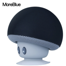 MoreBlue Mini Wireless Bluetooth Mushroom Speaker Mobile Phone Stand Portable Cute Loudspeaker Bass Music Player Phone Holder