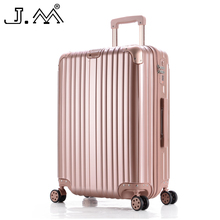 "J.M 20""24""28""Reisekoffer Suitcase on Wheels Travel Luggage High Quality Travel Case Mala Viagem Vintage Cabin Trolley  Luggage"