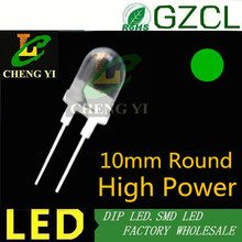 Ultra brightness 0.5watt round led 10mm green high power led lamp bulb 3.0-3.5V(CE&Rosh)(China)