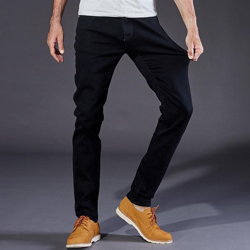 2017 New Mens Jeans Black High Stretch Denim Brand Men Jeans Size 30 32 34 35 36 38 40 42 Pants TrousersОдежда и ак�е��уары<br><br><br>Aliexpress