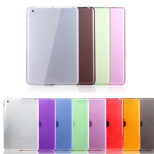 For ipad 6 / Air2 Slim Crystal Transparent Soft TPU Case for Apple iPad Air 2 High Quality Rubber Gel Anti-Skidding Matte Cover