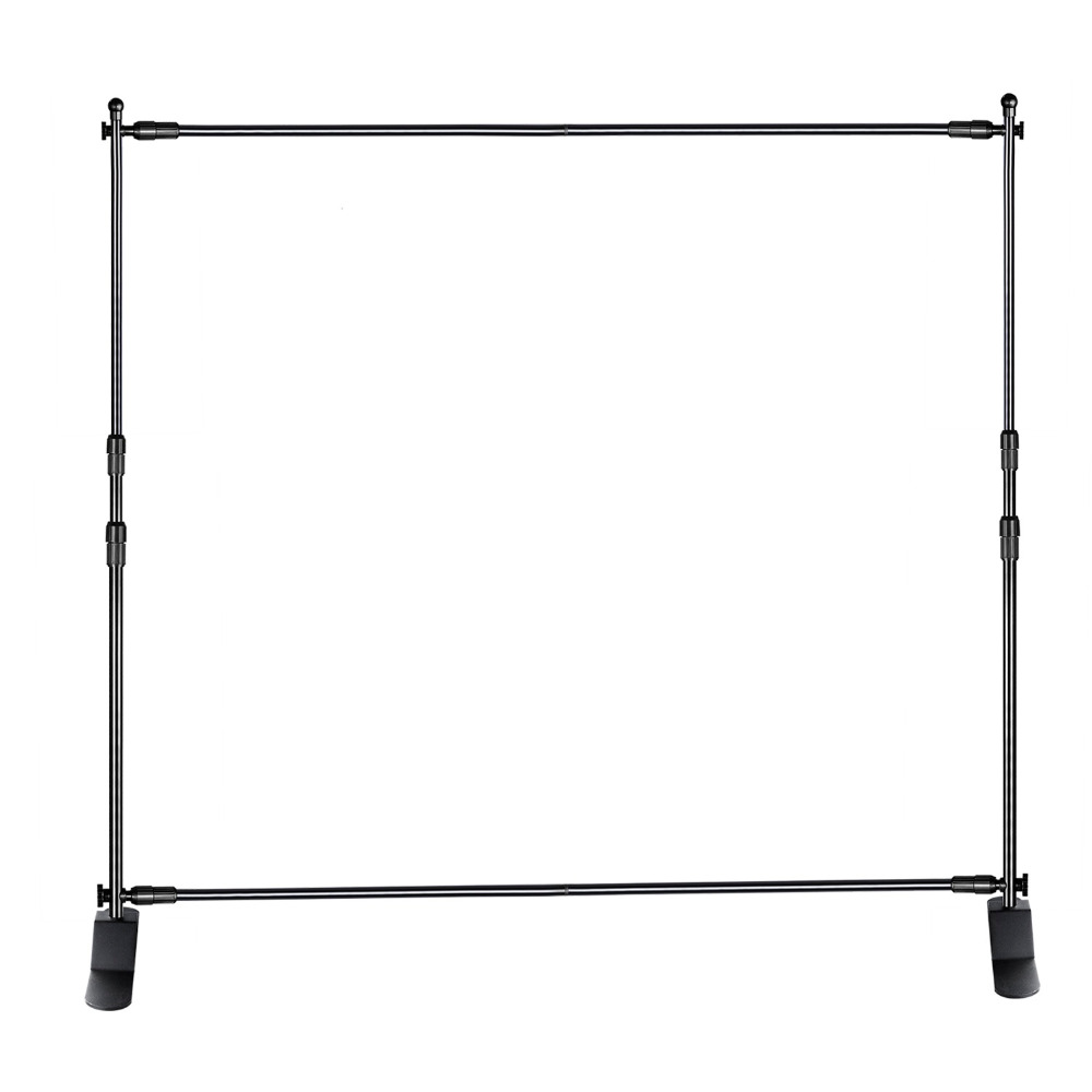 8/'x 8/'ft Heavy-Duty Telescopic Banner Backdrop Stand Trade show hardware