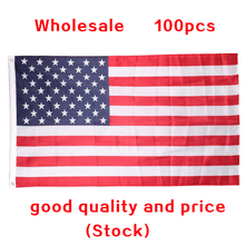 100 pcs Wholesale United Stated flag 3'x5' FT USA Flag150x90cm Polyester  Amerivan Flag Be Proud&Show off Your Patriotism