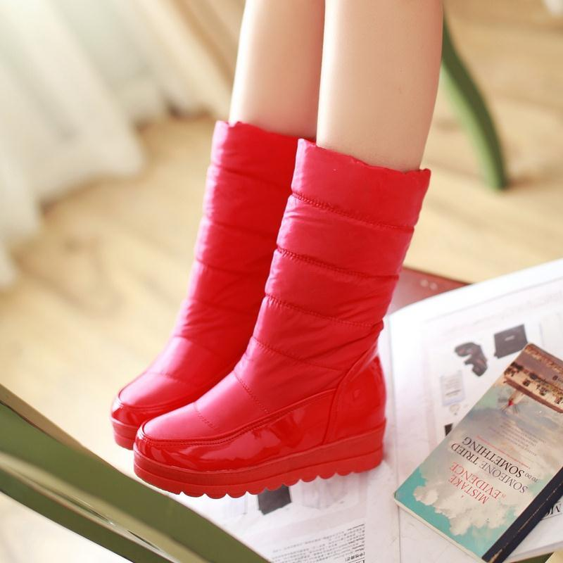 2016 new snow boots winter  woman waterproof  thick-soled down warm winter boots warm shoes<br><br>Aliexpress