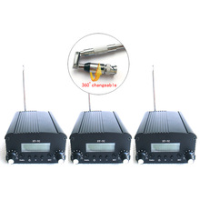 3PCS/set 1W/7W FM Stereo broadcast transmitter mobile car FM radio station audio built-in PLL frequency + Small antenna