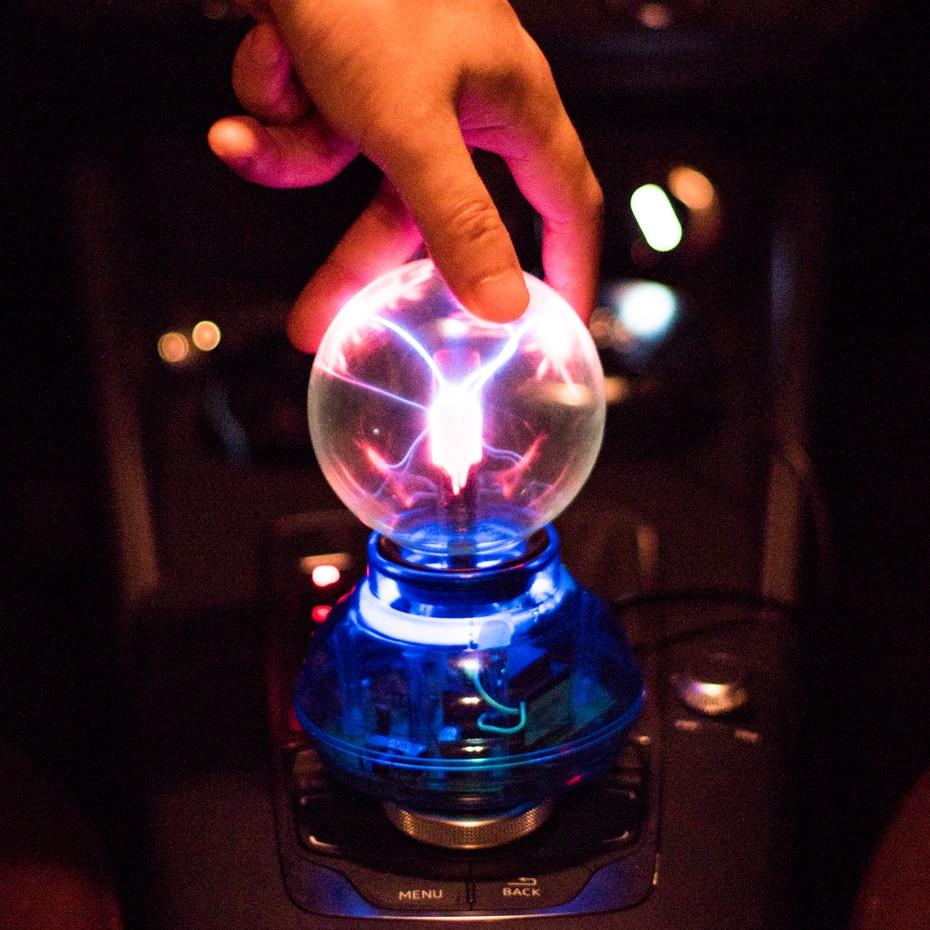 CNSUNNYLIGHT Car Music Sound Control LED USB Plasma Ball Electrostatic Lamp Decoration Atmosphere DJ Lights Party Magic Lighting (3)