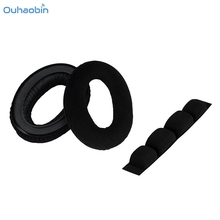 Ouhaobin Black Popular Replacement Ear Pads Cushion Headband For Sennheiser HD650 HD600 HD580 Headphones Soft Earpads Sep11(China)