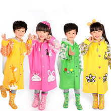 2016 hot sale Free Shipping Kids Rain Coat children Raincoat Rainwear/Rainsuit,Kids Waterproof Animal Raincoat 2-12 years old