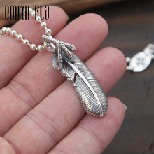 Buy Genuine 925 Sterling Silver Vintage Punk Thai Silver Feather Talon Pendant Women Men Necklace Jewelry Retro for $14.90 in AliExpress store