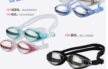 Mist Prevention Electroplating Swimming Goggle Swimming Glass Plain Glass(China)
