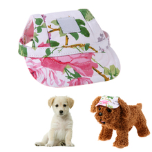 Lovely Pet Dog Cap Oxford Canvas Casual Baseball Style Breathable With Ear Sun Beach Hat For Puppy(China)