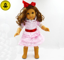 "New Style Popular 18"" American Girl Doll Clothes Hot Sale Baby Best Gift Dolls Accessories Dress Fashion MG-034(China)"