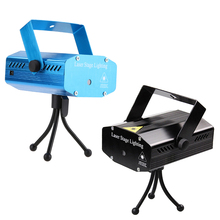 Black/Blue Mini Portable 360 Degree IP65 LED Laser Projector R&G DJ Disco Stage Light Xmas Party Lighting Show Voice US/UK Plug(China)