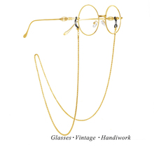14k gold color retention copper glasses rope chain glasses sunglasses lanyard (thin strand of copper - gold plating)