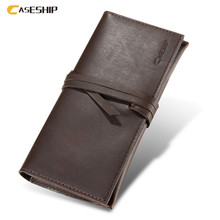 CASESHIP Geniune Leather Phone Bag Case For iPhone 7 6 6s Plus Retro 5 Card Holder Phone Cases For iPhone 6 6s 7 Plus Pouch(China)