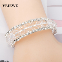 Buy YFJEWE New Fashion Wedding Bridal Elegant Bangle Wristband Bracelet Crystal Cuff Bling Women Gift Bracelets & Bangles B027 for $2.56 in AliExpress store