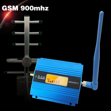 Full Set LCD Display GSM 900mhz Mobile Signal Booster ALC GSM 900 65dB Gain Cell Phone Cellular Repeater Amplifier+ Antenna